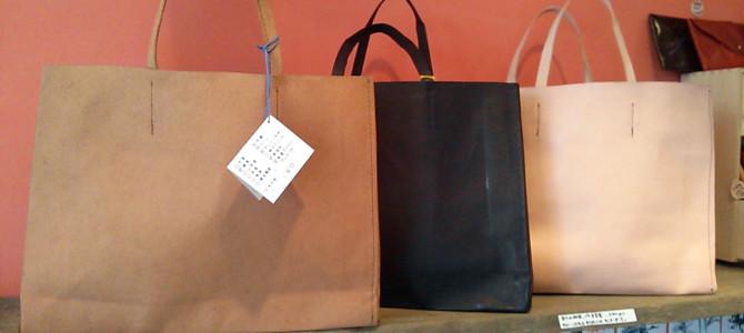 紙袋のような革袋(A4横サイズ)