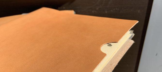 ヌメ革の書類ケース